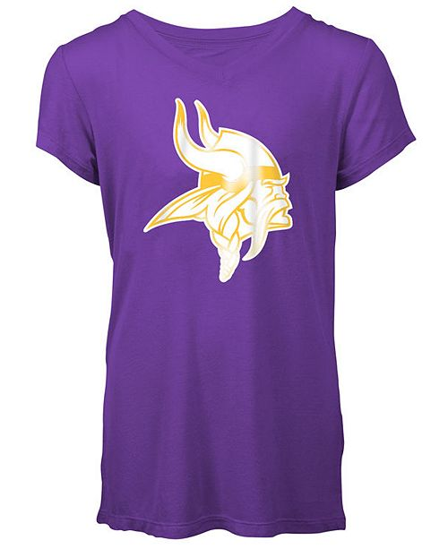cf825581 5th & Ocean Minnesota Vikings Logo T-Shirt, Girls (4-16) & Reviews ...