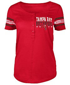 5th & Ocean Women's Tampa Bay Buccaneers Button Down T-Shirt