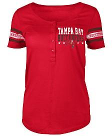 5th & Ocean Women's Tampa Bay Buccaneers Button Down T-Shirt