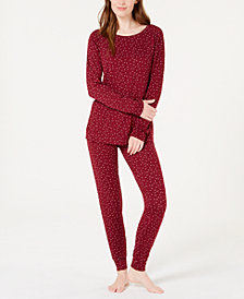 Alfani Printed Knit Pajama Set, Created for Macy's