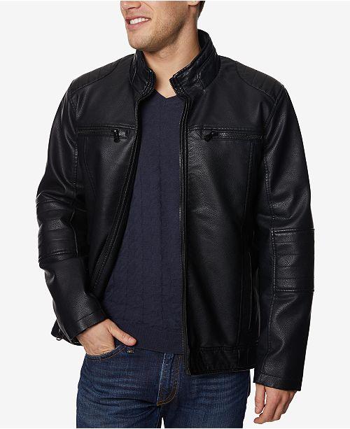 083959150 Buffalo David Bitton Men's Faux-Leather Jacket & Reviews - Coats ...