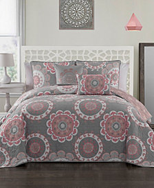 Elsa 5 Pc Queen Quilt Set
