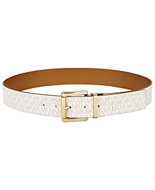 Plus-Size Reversible Signature Leather Belt