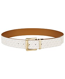 MICHAEL Michael Kors Plus-Size Reversible Signature Leather Belt