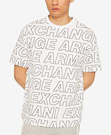 A X Armani Exchange Men's Allover Logo Print T-Shirt