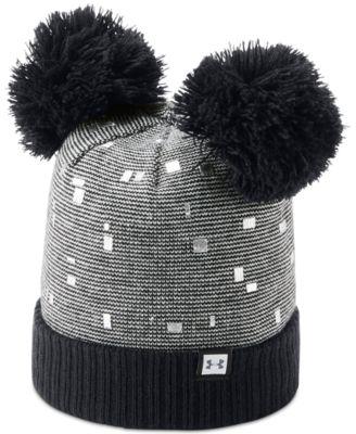 6280b4c6ce7bb Under Armour Big Girls Double-Pom Beanie Hat   Reviews - All Kids   Accessories - Kids - Macy s