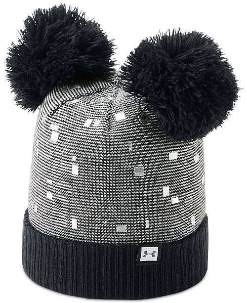 dfb299a57 Under Armour Big Girls Double-Pom Beanie Hat & Reviews - All Kids ...