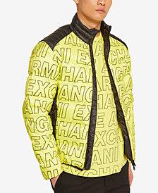 Armani Exchange Mens Oversized Block Logo Jacket