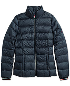 Tommy Hilfiger Adaptive Women's Tulla Quilted Jacket with Magnetic Zipper
