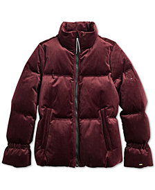 Tommy Hilfiger Women's Mase Velvet Puffer from The Adaptive Collection