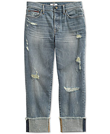 Tommy Hilfiger Women's Boyfriend Jeans from The Adaptive Collection