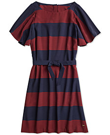 Tommy Hilfiger Women's Flutter-Sleeve Dress from The Adaptive Collection