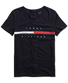 Tommy Hilfiger Adaptive Women's Logo Top with Velcro® Closure at Back
