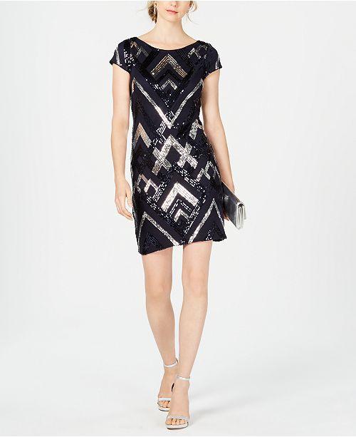 cef45cf8 Vince Camuto Sequin Cap-Sleeve Sheath Dress & Reviews - Dresses ...