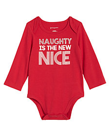 First Impressions Baby Boys & Girls Naughty Is The New Nice Bodysuit, Created for Macy's