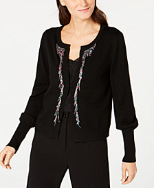 Nanette Lepore Bead-Embellished Cardigan, Created for Macy's