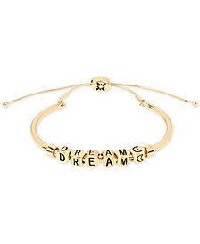BCBG Inspirational Word Beaded Slider Bracelet