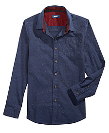 Univibe Big Boys Standfort Speckle Shirt