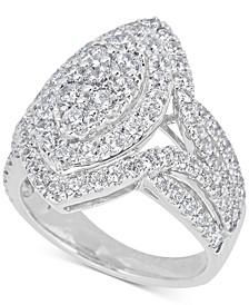 Diamond Cluster Ring (2-1/2 ct. t.w.) in 14k White Gold