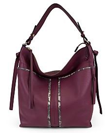 T Tahari Skyler Leather Bucket Bag
