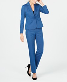 Le Suit One-Button Pantsuit