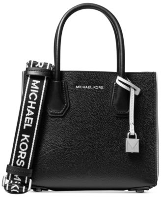 michael kors mercer accordion logo pebble leather crossbody rh macys com