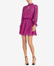 RACHEL Rachel Roy Animal-Print Fit & Flare Dress