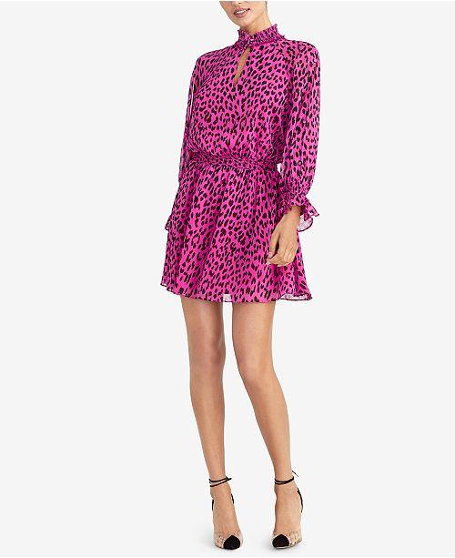 88ccb0f65717 RACHEL Rachel Roy Animal-Print Fit & Flare Dress & Reviews ...