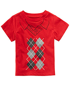 First Impressions Baby Boys Argyle-Print Cotton T-Shirt, Created for Macy's
