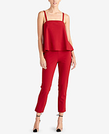 RACHEL Rachel Roy Adeline Peplum-Top Jumpsuit, Created for Macy's