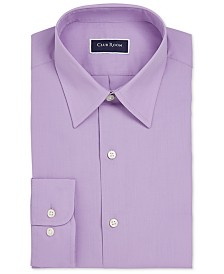 Club Room Men's Regular Fit Solid Dress Shirt, Created for Macy's