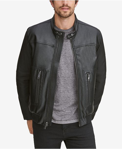 Marc New York Men's Griffith Blocked Racer Jacket