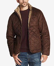 Weatherproof Vintage Men's Quilted Faux-Suede Fleece-Lined Jacket, Created for Macy's