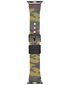 I.N.C. Women's Camouflage Silicone Apple Watch® Strap, Created for Macy's