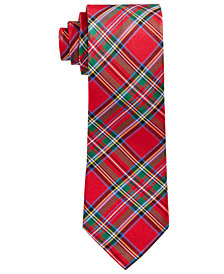 Lauren Ralph Lauren Big Boys Tartan Plaid Silk Necktie