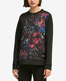 DKNY Paint Splatter Graphic Sweatshirt