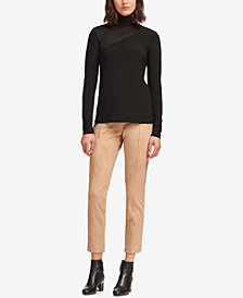DKNY Colorblocked Turtleneck Top, Created for Macy's