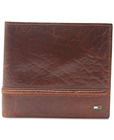 Tommy Hilfiger Men's Brevon Hipster RFID Leather Wallet