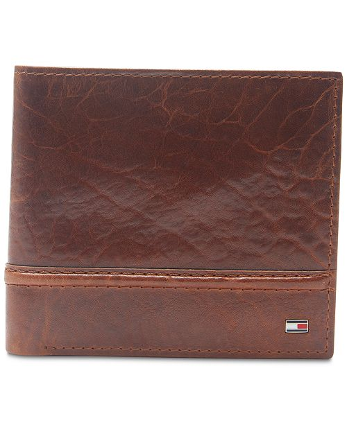 f730eb5563 Tommy Hilfiger Men's Brevon Hipster RFID Leather Wallet & Reviews ...