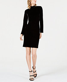 Bar III Velvet Sweater Dress, Created for Macy's