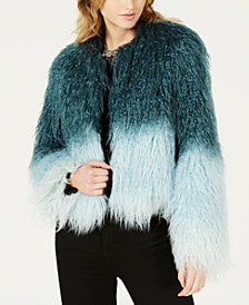 Bar III Ombre Faux-Fur Jacket, Created for Macy's