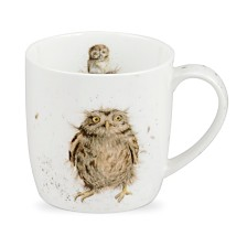 "Royal Worcester  Wrendale Owl Mug ""What a Hoot"" - Set of 4"