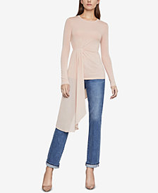 BCBGMAXAZRIA Draped Asymmetrical Top