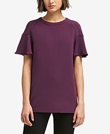 DKNY Ruffled-Sleeve Top