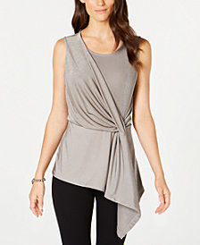 Alfani Metallic Twist Tank, Created for Macy's