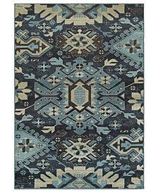 "Oriental Weavers Linden 4302A Navy/Blue 3'10"" x 5'5"" Area Rug"