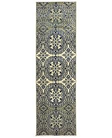 "Oriental Weavers Linden 7818A Navy/Ivory 2'3"" x 7'6"" Runner Area Rug"
