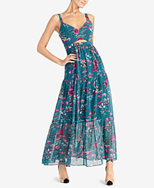 RACHEL Rachel Roy Printed Cutout Maxi Dress