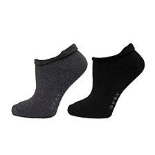 DKNY Roll Top Low Cut Socks 2 pk