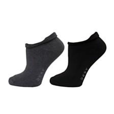 DKNY Roll Top Low Cut Socks 2 pk